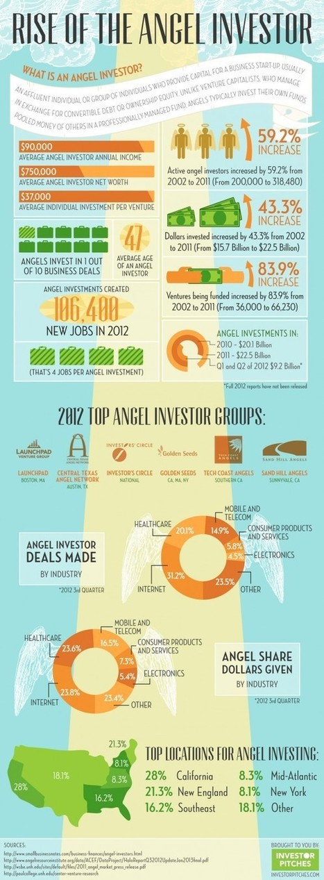 A Field Guide to Angel Investors (Infographic) | Monetization | Scoop.it