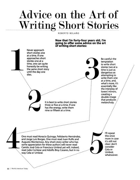 Roberto Bolaño on writing short stories | Feed the Writer | Scoop.it
