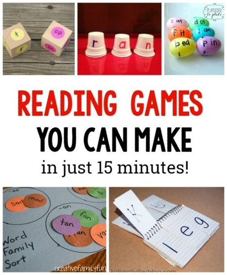 10 DIY Reading games for kids - The Measured Mom | Creativity in English Language Teaching (EFL) | Scoop.it