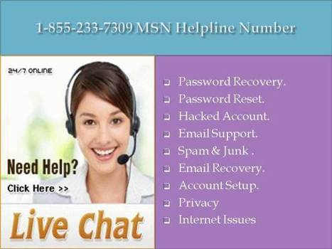 1-855-233-7309 Helpline Number California| MSN Not Working | Outlook Password Recovery | Scoop.it