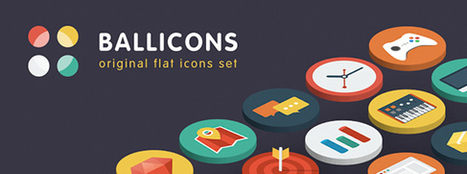 Ballicons – Flat Icon Set | Design resources for your website | Scoop.it