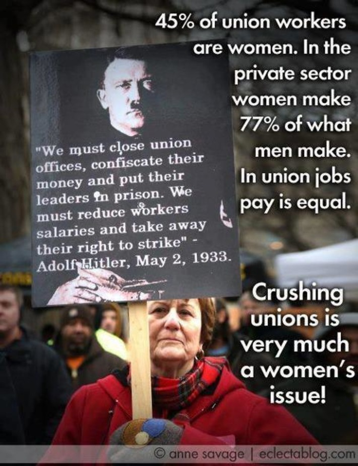 Crushing unions is a women's issue. | Dare To Be A Feminist | Scoop.it