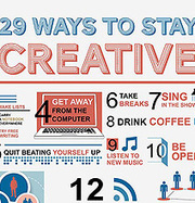 29 Ways To Keep Your Creative Juices Flowing Every Day [Chart] - Bit Rebels | creative process or what inspires creativity? | Scoop.it