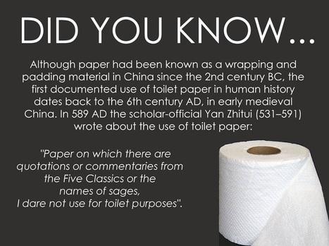 Earliest use of toilet paper | Heritage Daily | Asie | Scoop.it