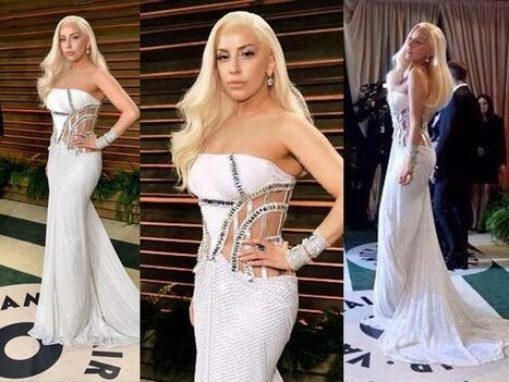 Lady Gaga At Vanity Fair Oscar Party | Celebrity fashion | Scoop.it