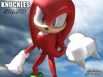 Cartoon Knuckles 3D | 3D Library | Scoop.it