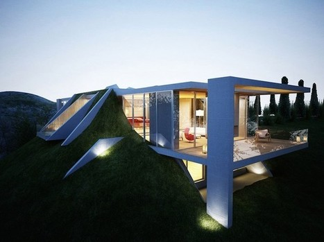"Stunning ""Earth House"" Appears to Be Built into the Ground 