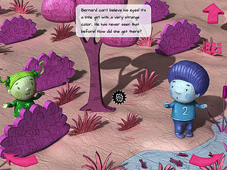 Blue Bernard lives on a pink planet but has a green friend   Square Igloo press review   Scoop.it