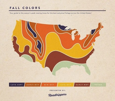 USA Map Showing Fall Colors by the Month | AP HUMAN GEOGRAPHY DIGITAL  STUDY: MIKE BUSARELLO | Scoop.it