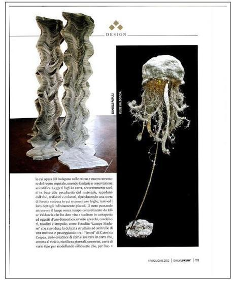 "My artist's friends and "" Nebula medusa "", my lamp, creation in cartapesta, obta... | Elise Valdorcia, Visual artist 3D, Interior decorator, restorer, designer... | Scoop.it"