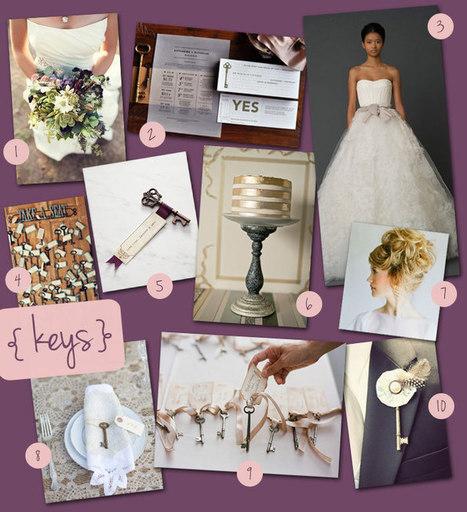 Wedding Theme: Vintage Keys   colour trends for events 2013-2014   Scoop.it