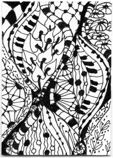 Pattern Within Pattern Challenge Entry for Tangled Thursday | Zentangle inspired art | Scoop.it