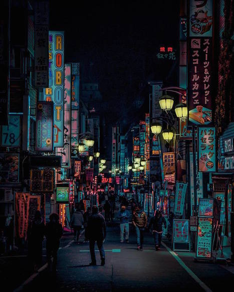 The #Neon Glow of #Tokyo's #Nightlife Captured by Liam Wong. #art #colour #photography #light #cities | Luby Art | Scoop.it
