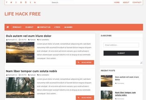 LifeHack Free Responsive Blogger Template ( Blogspot Theme ) | Blogspot templates | Scoop.it