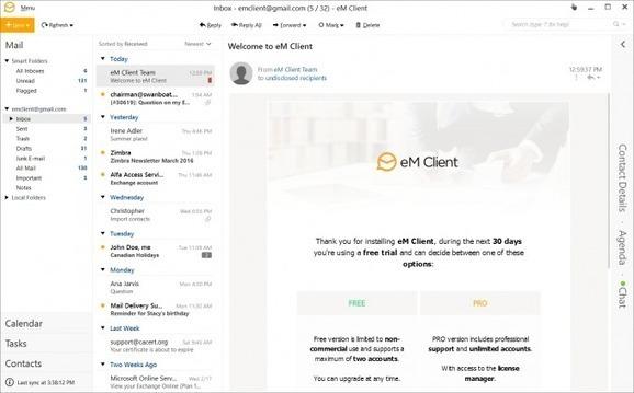 eM Client 7 free software giveaway