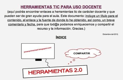 APRENENT: Herramientas TIC para uso docente | Web 2.0 y algo más | Scoop.it