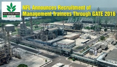 NFL Announces Recruitment of Management Trainees Through GATE 2016   Education:Education and Career is life   Scoop.it