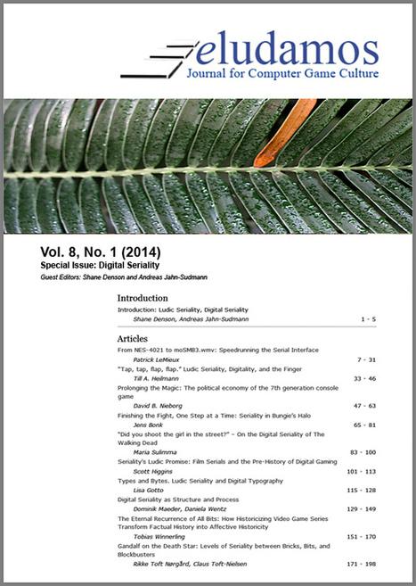 ELUDAMOS: Journal for Computer Game Culture. Vol 8, No 1 (2014)   Formación y videojuegos   Scoop.it