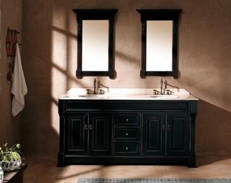 Black And White Bathroom Vanity For Modern Bathroom | Notizie Immobiliari | Scoop.it