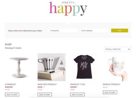 Pretty Happy WordPress Feminine E-Commerce Theme   Free Premium WordPress Themes   Scoop.it