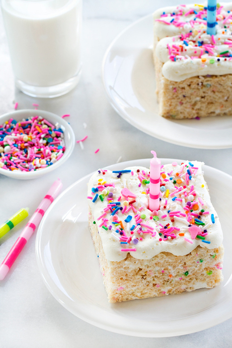 Birthday Marshmallow Cereal Treats - My Baking Addiction | Passion for Cooking | Scoop.it