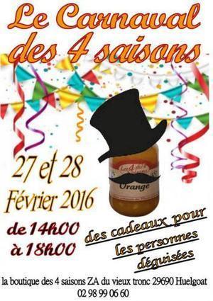 Le carnaval des 4 saisons - Huelgoat (dep.29) - Du 27 au 28 Février 2016 - Festivités - Festivals sur Trouver-en-Bretagne.com | Huelgoat | Scoop.it
