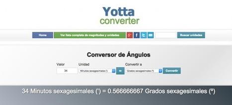 Yottaconverter: un conversor que acepta cualquier unidad de medida... literalmente | E-Learning, M-Learning | Scoop.it
