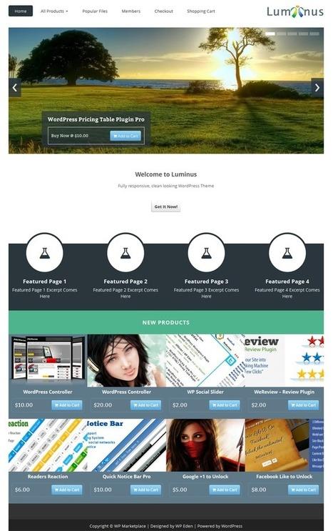 WPMP Luminus – WordPress Marketplace Plugin | WordPress | Scoop.it