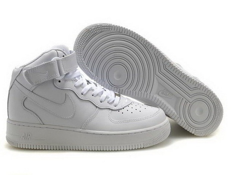 Men Nike Air Force One High Top Shoes 05 All White | Online Shopping | Scoop.it