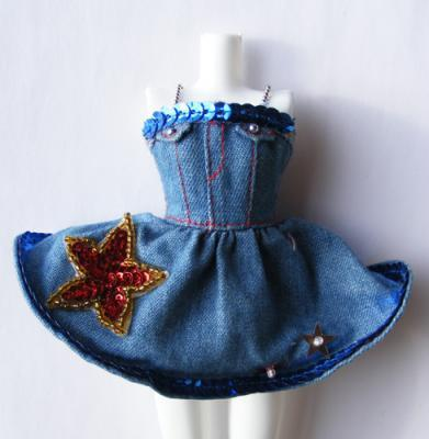 thethinkingdoll Online Shop - GroovyCart - Collectable and Vintage Dolls BUY: Takara Jenny Pop Idol Denim Dress with Sequins Blue, Blythe, Denim, Doll, Dress, Fashion, Idol, Jenny, Pop, Pullip, Seq... | Playscale Picks | Scoop.it