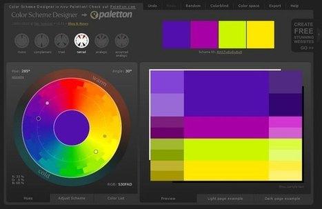 Outils gratuits pour trouver des harmonies de couleurs | Webdesign, Créativité | Scoop.it