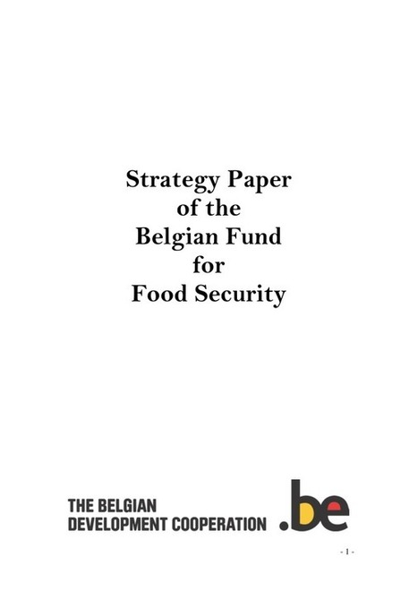 Strategy Paper for the Belgian Fund for Food Security | International aid trends from a Belgian perspective | Scoop.it