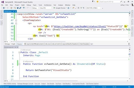 Making It Better: ASP.NET with Visual Basic 14 - .NET Web Development and Tools Blog - Site Home - MSDN Blogs | News de la semaine .net | Scoop.it