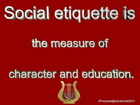 Social etiquette | ~Sharing is Caring~ | Scoop.it