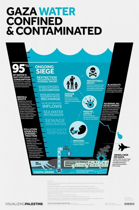 Gaza Water Confined & Contaminated | Visualizing Palestine | Geographic and Sustainability Literacy | Scoop.it