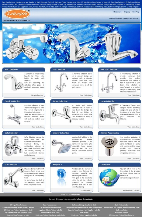 Manufacturers and Suppliers of Bathroom Fittings Delhi India | Bath Fittings in Delhi | PARAGON INDIA : Manufacturers and Suppliers of Bathroom Fittings, Taps, Fauctes, Flange | Scoop.it