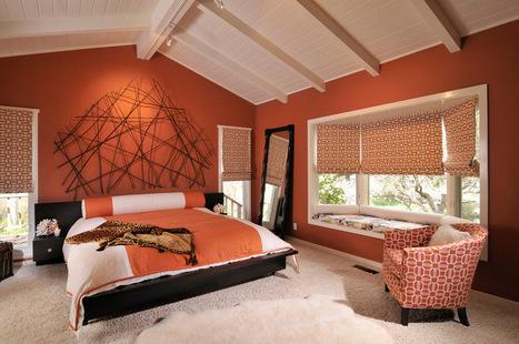Dreaming in Color: 6 Sensational Orange Bedrooms | Designing Interiors | Scoop.it