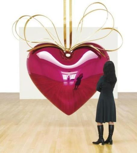 contemporary art - JEFF KOONS(1955 -  ) 'HANGING HEART (MAGENTA / GOLD)' 제작년도1994 - 2006 | Vulbus Incognita Magazine | Scoop.it