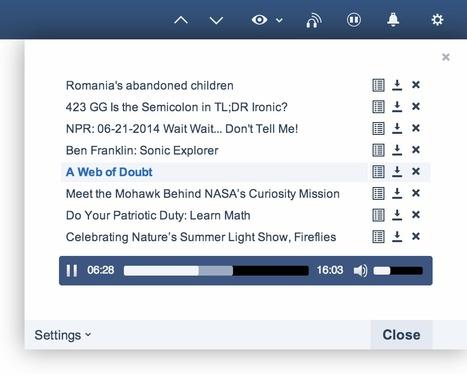 Inoreader: Audio Player [podcast] enhancements | RSS Circus : veille stratégique, intelligence économique, curation, publication, Web 2.0 | Scoop.it
