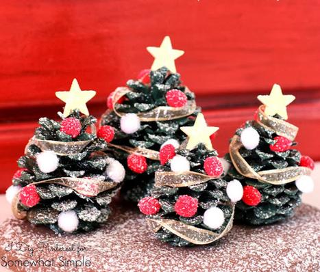 Pigna trasformata in alberello di Natale   Love DIY   Scoop.it