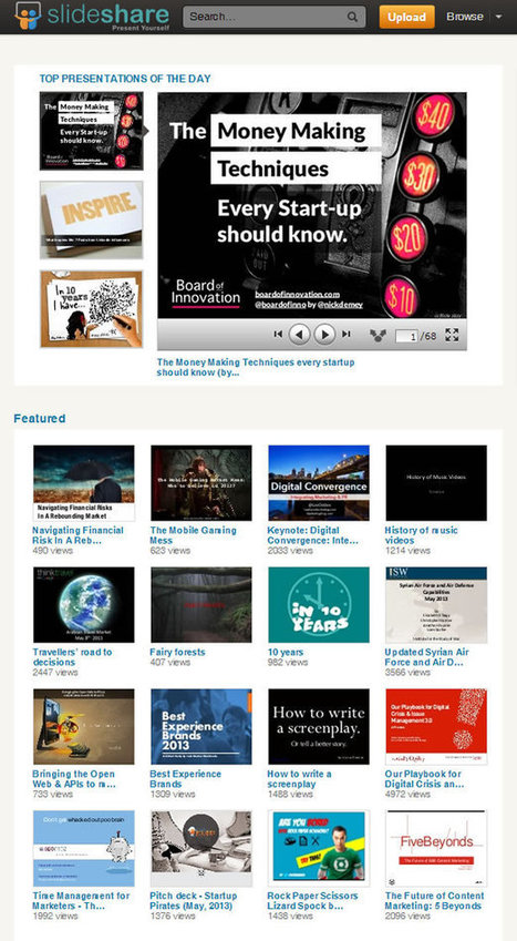 Using SlideShare to Reach New Customers | Web Revenue | Digital Communication and Innovations | Scoop.it