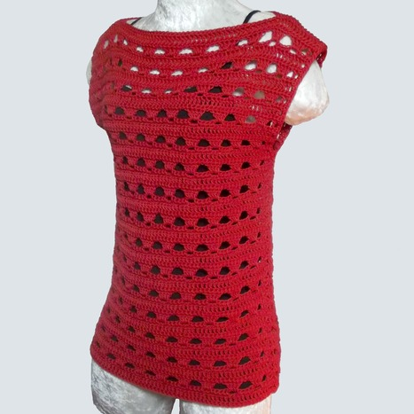 Simple Lace Summer Top - CrochetN'Crafts | Just Crochet | Scoop.it