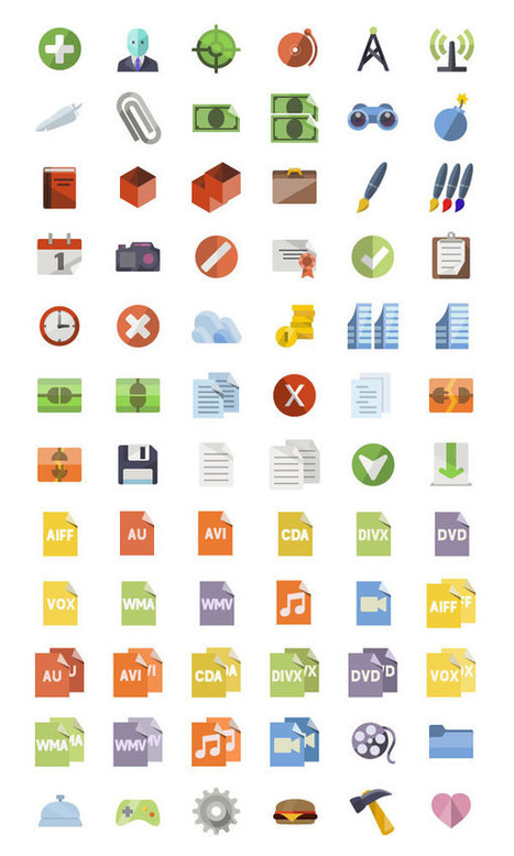 Download 3600+ Free Flat Icons Miniset | The Official Photoshop Roadmap Journal | Scoop.it