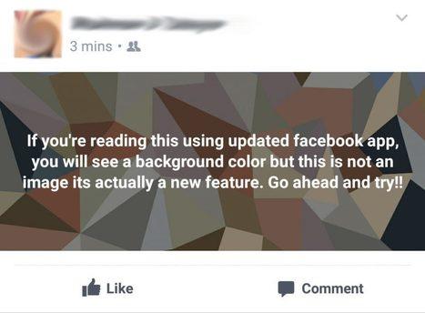 Pourquoi des statuts énormes apparaissent sur Facebook | réseaux sociaux | Scoop.it