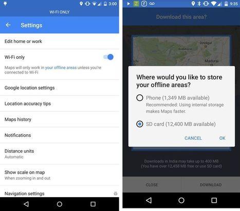 Google Maps vous permet maintenant de télécharger des cartes sur une micro-SD | Techno veille | Scoop.it