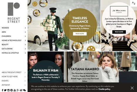 Regent Street Online, the Premier Retail Destination in London with a web presence to back this up . . . | Digital Portfolio by Small Back Room | Scoop.it