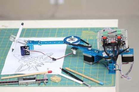 Arduino-Compatible 4-in-1 DrawBot Decorates Walls, Floors, Eggs, and More - Make: | mobile & embedded engineering | Scoop.it