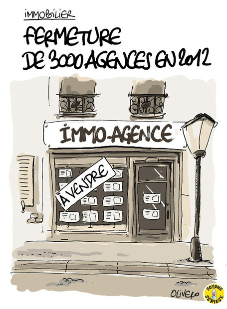 Immobilier : fermeture de 3000 agences en 2012 | Baie d'humour | Scoop.it