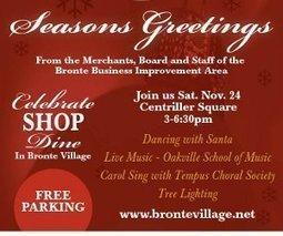 Bronte Village's Annual Tree Lighting & Open House - Oakville.com   Deals Oakville   Scoop.it