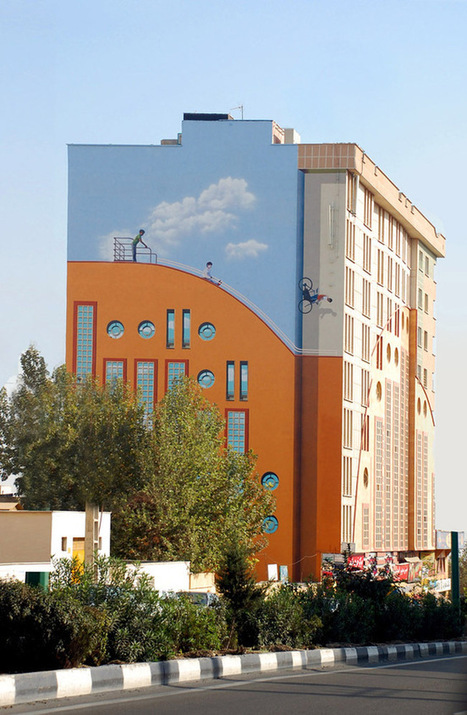 Fantasy filled murals turn modest buildings of Tehran into work of art | Placing Creativity | Scoop.it